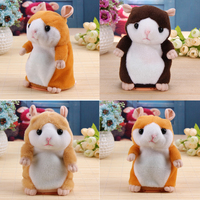 1 Pc New Lovely Talking Hamster Plush Toy Cute Speak Talking Sound Record Talking Toy Educational