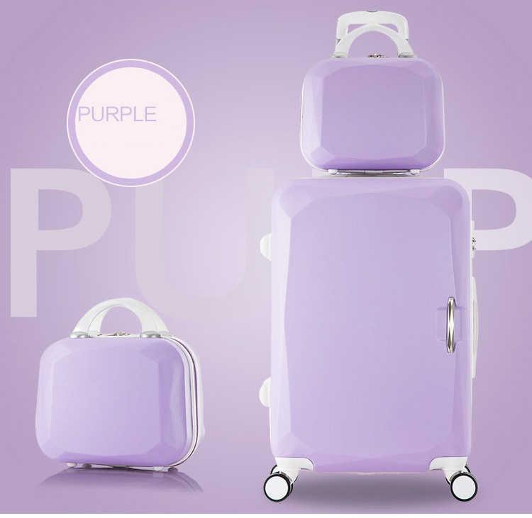 """20 """"22"""" 24 """"26"""" pouces haute capacité bagages à roulettes Spinner étudiants valise à mot de passe roues 20 pouces bagage à main sac de voyage chariot"""