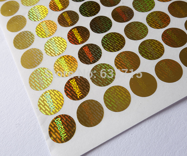 Image 3 - diameter 8mm gold color  , USD 15.6/1500 pieces laser hologram sticker label,warranty seal  versatile ! void if removed-in Stationery Stickers from Office & School Supplies