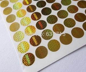 Image 3 - diameter 8mm gold color  , USD 15.6/1500 pieces laser hologram sticker label,warranty seal  versatile ! void if removed
