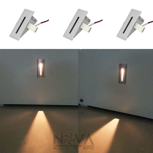 Blade Step Light, LED Recessed Low Level Wall Wash Lights