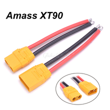 Amass XT90 XT 90 разъем мужской женский разъем с 12AWG силиконовый провод 90 мм RC батарея кабель