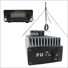 FMUSER 30 Вт Профессиональные FM Усилитель передатчика 85 ~ 110 MHz fmuser FU-30A антенна GP комплект