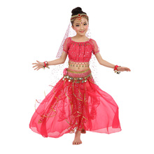 New Style Kids Belly Dance Costume Oriental Costumes Dancer Clothes Indian For 3pcs and 7pcs/set