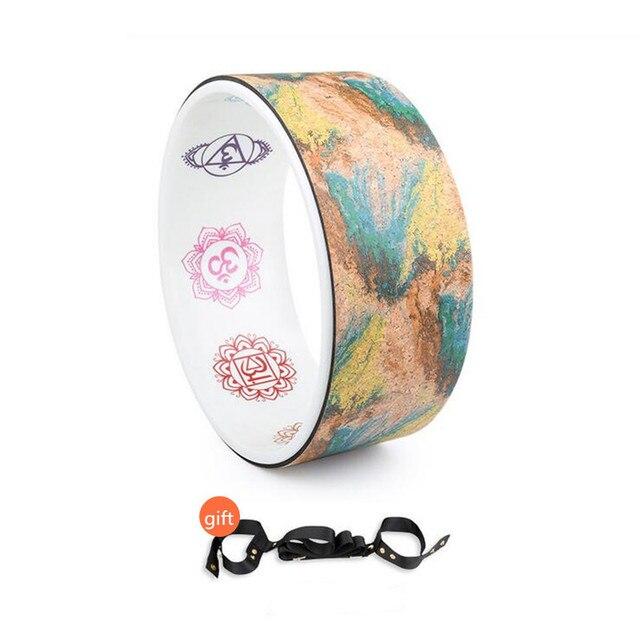 Engraved Cork Yoga Wheel