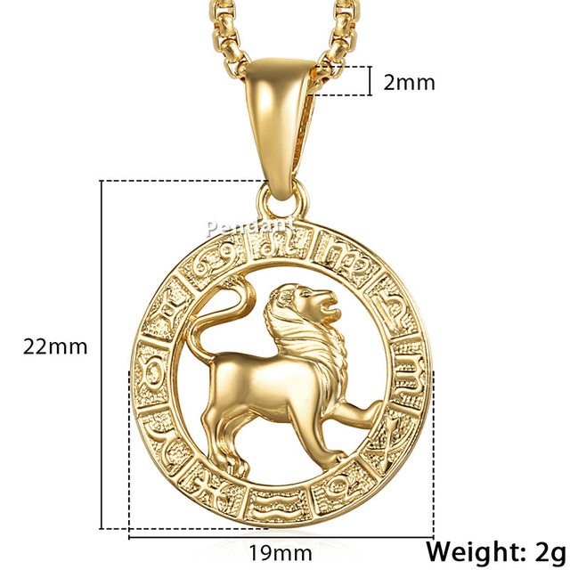 Men's Women's 12 Horoscope Zodiac Sign Gold Pendant Necklace Aries Leo Wholesale Dropshipping 12 Constellations Jewelry GPM24 – GP363 Libra – Pendant Only