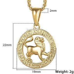Image 5 - Pendentif signe du zodiac, 12 constellations, doré, pour homme et femme, bijou avec motif horoscope, bélier et lion, pour collier, vente en gros, dropshipping, GPM24