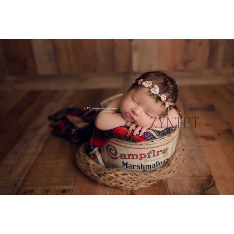 Fondo de Manta con capa de arpillera Natural para fotografía de recién nacidos accesorios para sesión de fotos de bebé Flokati sesión de fotos