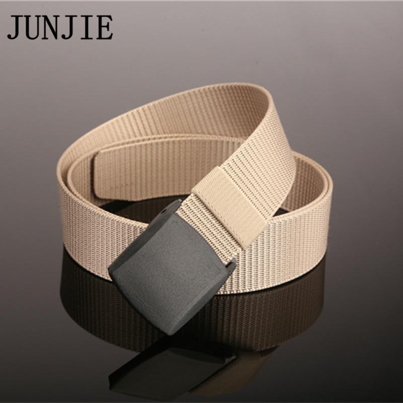 Sport Male Canvas Belt Anti Slip Wearable Nylon Outdoor Waist Strap Tactical Belts with YKK Resin Buckle Gift for Men
