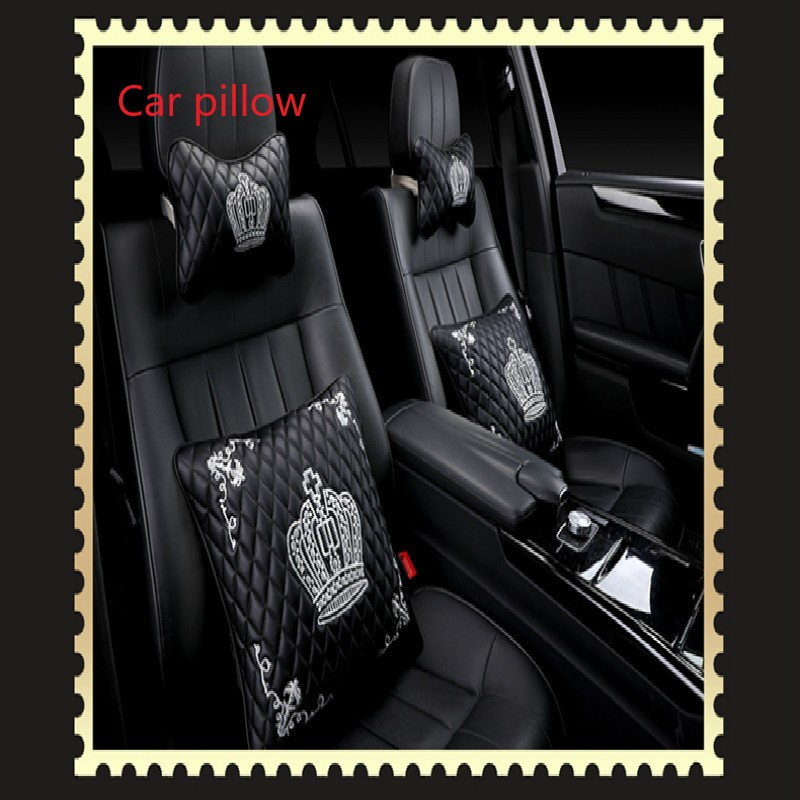4pcs The car softness head pillow.collapsible styling for Skoda YETI Superb Citigo Fabia Octavia RAPID CitiJet MissionL sticker