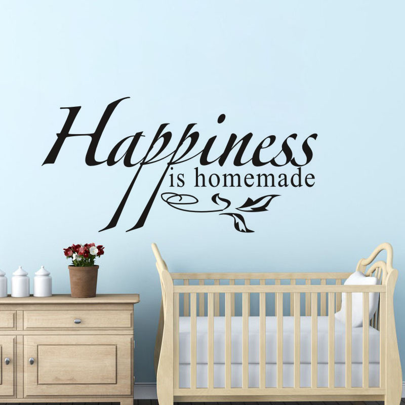 Happiness Is Homemade Vinyl Wall Decal Quotes Home Decor Living Room Bedroom Diy Art Wallpaper Removable Stickers