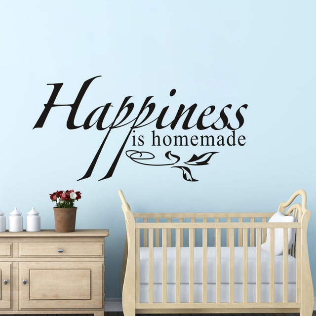 online shop happiness is homemade vinyl wall decal quotes home decor