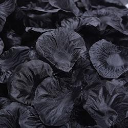 1000 шт./лот, лепестки роз, свадебные, искусственные шелковые цветы, украшения, свадебные, вечерние, цветные, 40 цветов, RP01 - Цвет: black