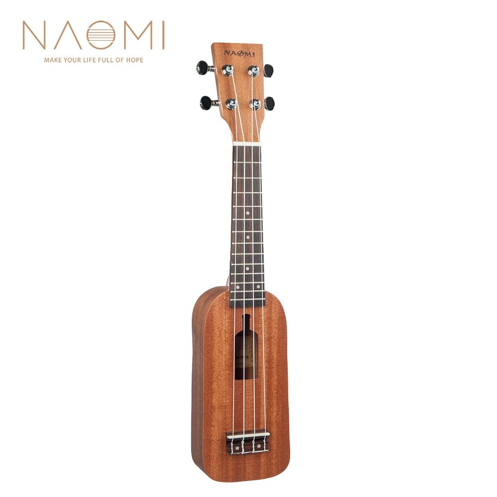 Soprano Ukulele Ukelele Hawaii Guitar Mahogany 12 Fret Bag
