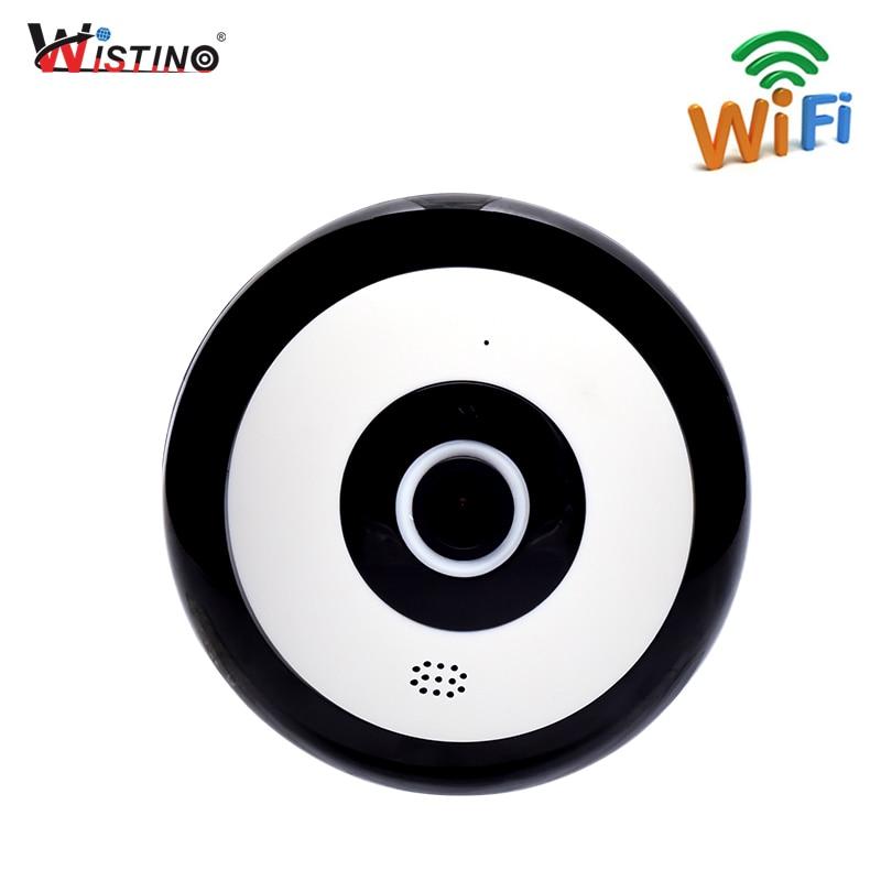 Wistino CCTV HD 960P IP Camera WIFI VR Panoramic Fisheye Baby Monitor Wireless 360 Degree Video Camera Home Surveillance Alarm цена
