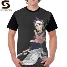 Shokugeki No Soma T Shirt Food Wars T-Shirt Print 100 Percent Polyester Graphic Tee Mens Beach 5x Short Sleeves Tshirt