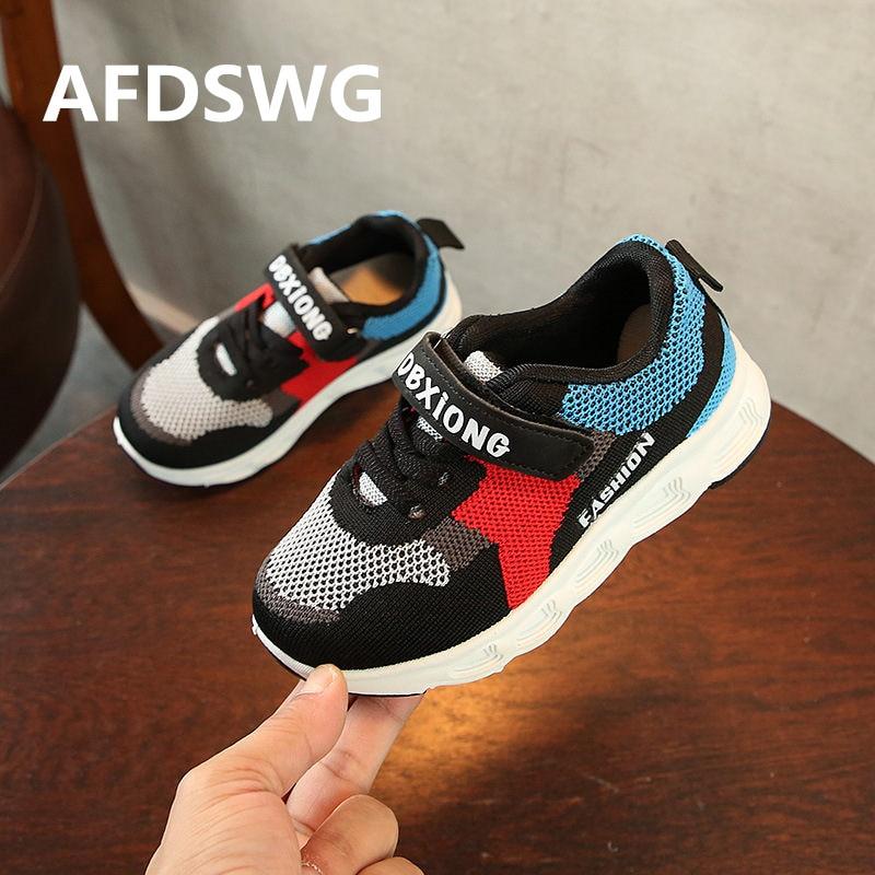 AFDSWG black mesh breathable sneakers for boys pink children shoes for girls sneakers for children children shoes
