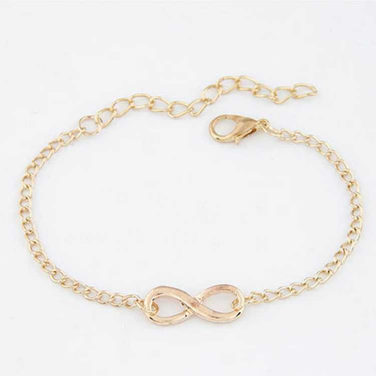 Модные браслеты Bijoux Новинка 2018 года для женщин 8 Бесконечность браслет для мужчин Jewelry подарок для девочек шарм браслеты на запьястье напульсники