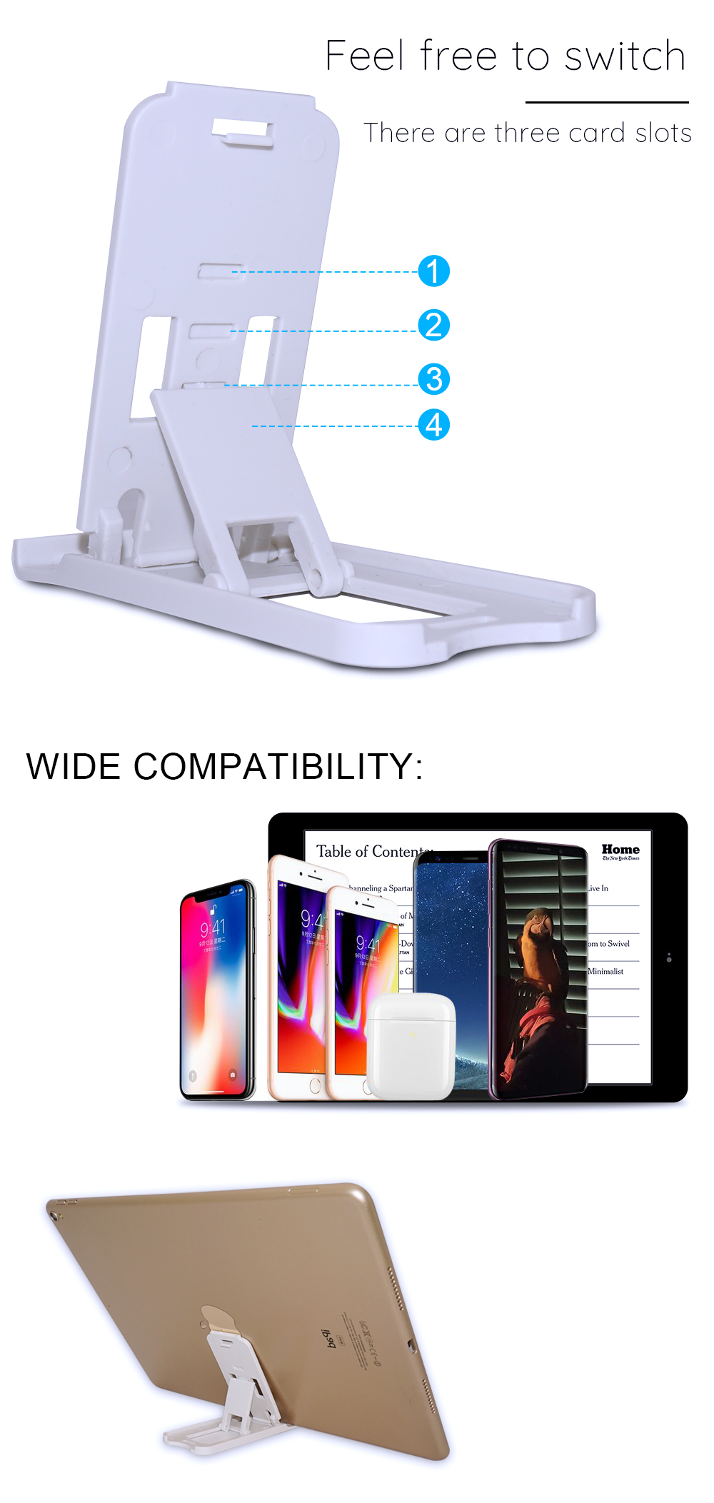 Portefeuille Mobile Phone Holder Candy Mini Desktop Stand For Huawei P20 Lite Xiaomi Mi 8 Mi8 iPhone X 7 Plus Smartphone Suporte (3)