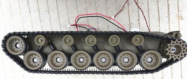 만찬 큰 로봇 탱크 섀시 크롤러 스마트 로봇 플랫폼 henglong 3838 대형 댐핑 서스펜션 sn2300