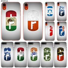 Rainbow Six Siege logo Hot Fashion Transparent Hard Phone Cover Case for iPhone X XS Max XR 8 7 6 6s Plus 5 SE 5C 4 4S