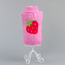 British Style High Necked Dog Winer Sweater Pink Warm Small Pet Clothes xs