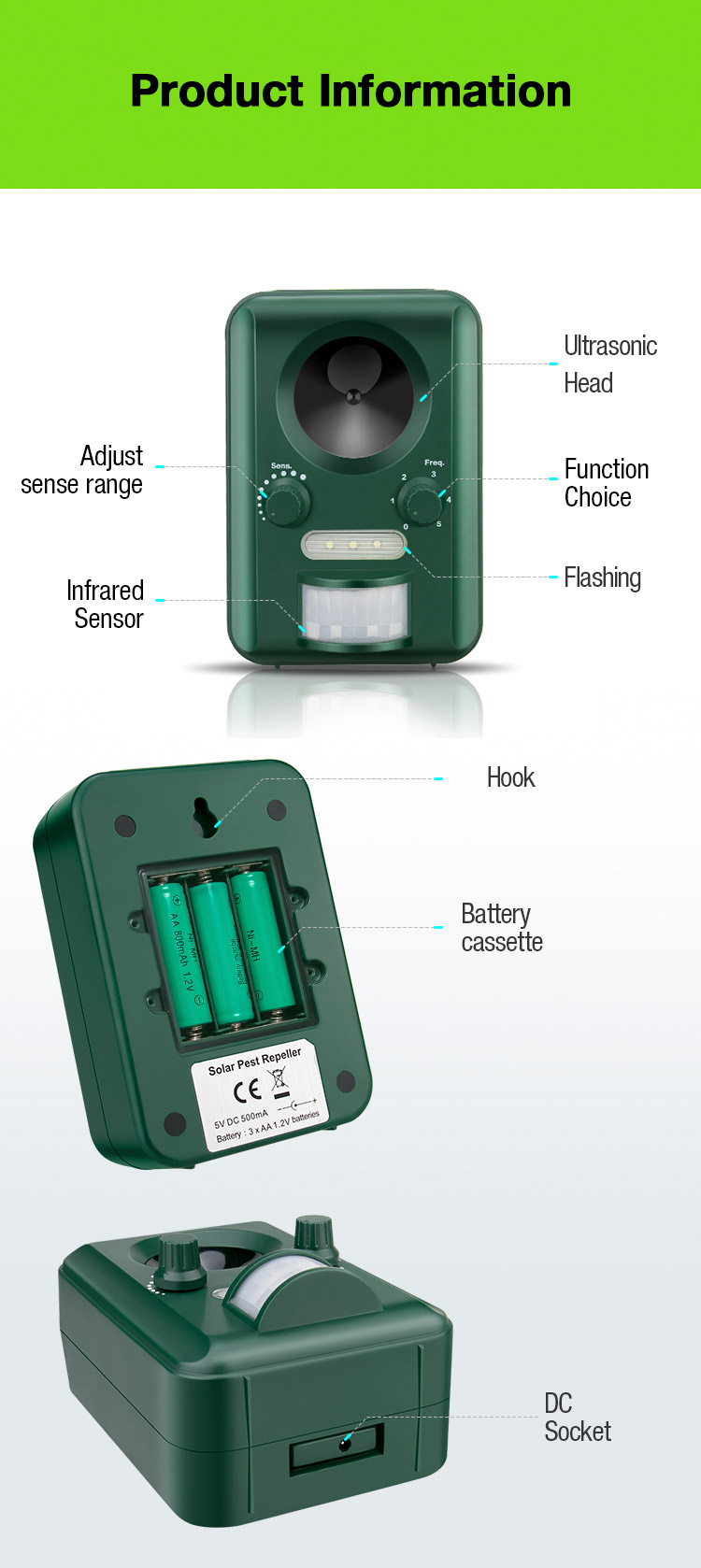 Detail Feedback Questions About Free Shipping Buy Aosion Solar Is The Circuit Diagram Of An Ultrasonic Mosquito Repellerthe International Shenzhen Co Ltd Has Devoted To Research And Marketing Various Kinds Eco Friendly Pest Control Products For Many Years