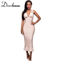 Dear Lovers Red Fishtail Luxe Bandage Dress LC28422