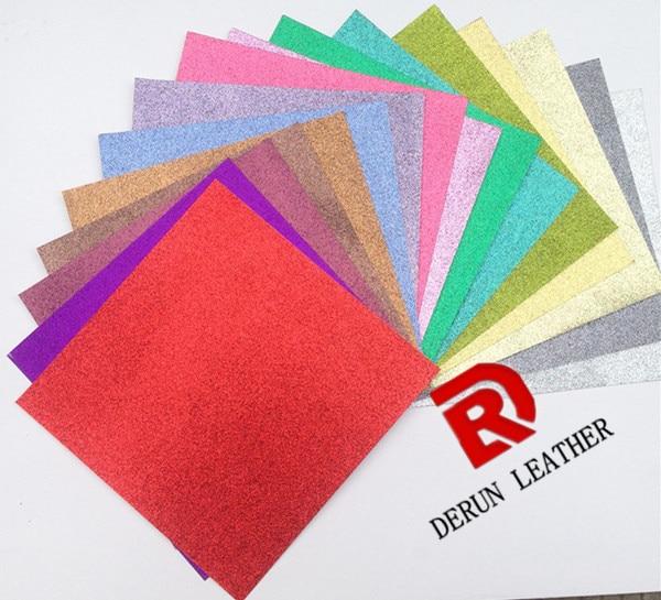 50pieces 12 inch glitter craft paper handmade scrapbook paper for decoration 300gsm glitter card paper