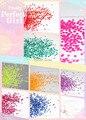 Pretty Girl 12 Forma de La Flor, Colores de Neón brillo Resistente A los Disolventes de Uñas Lentejuelas para el Arte Del Clavo 1 Paquete = 120g