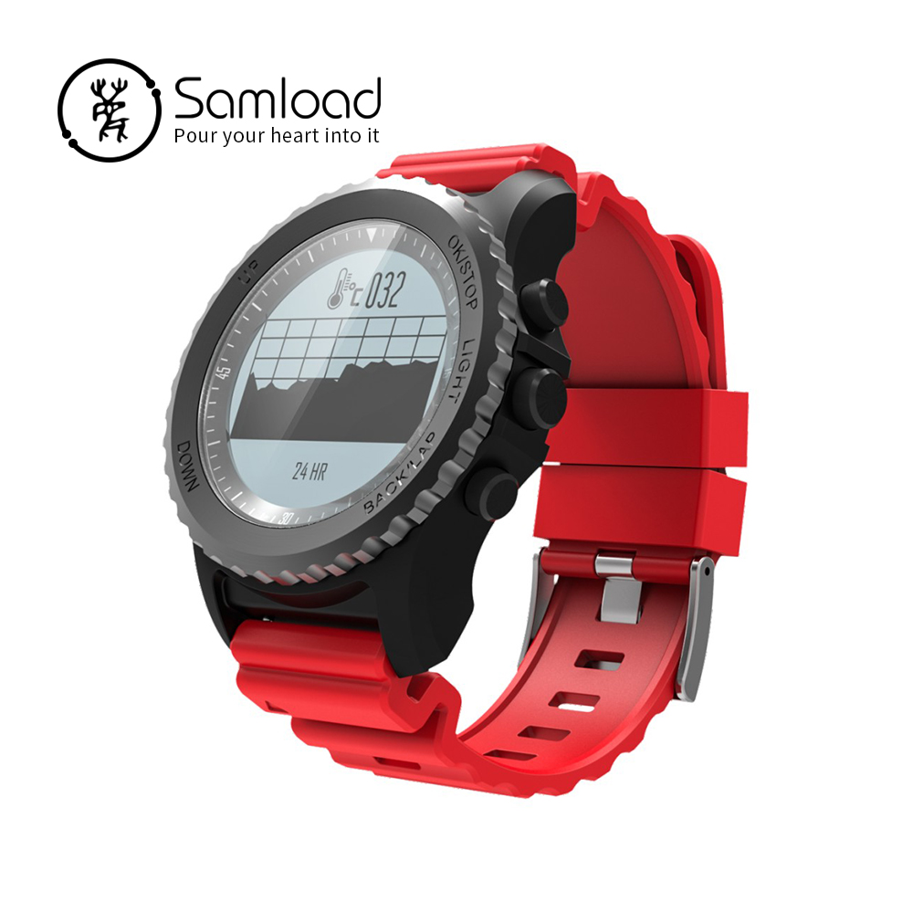 Samload SmartWatchs S968 GPS Sports Bluetooth Band Water Temperature Track record Barometer Thermometer For iPhone Xiaomi Huawei