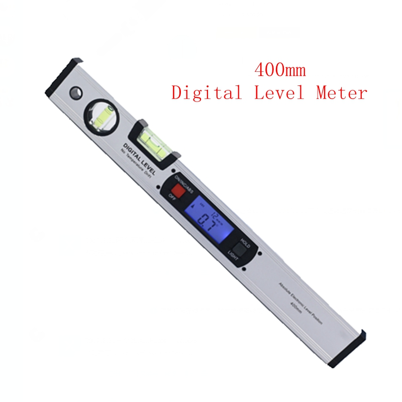 400mm Electrical Level Upright Inclinometer LCD Digital Angle Finder Level With Magnets Spirit Protractor Ruler Blue Backlight 400mm 16in backlight lcd digital protractor spirit level angle meter inclinometer angle finder measuring tool