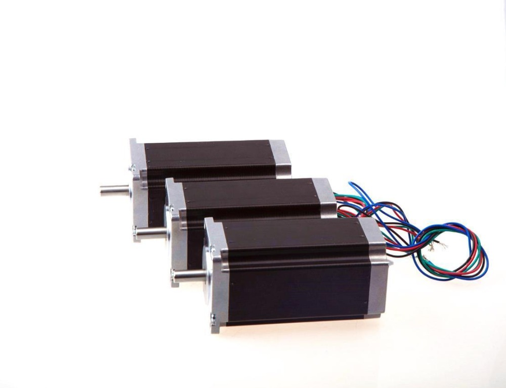 Ship From USA! Wantai 3PCS Nema23 Stepper Motor 57BYGH115-003B Dual Shaft 425oz-in 115mm 3A CE ROHS ISO CNC Router Kit 3040 free ship 3pcs dual shaft nema 23 stepper motor 1 89n m 268oz in 76mm 3a direct selling