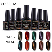 8 Ml Nail Art Tato Gel Varnish Glitter Pesona Cat Tahan Lama Rendam Off UV 3D Cat Eye Magnetic hybrid Kuku Gel Polandia(China)