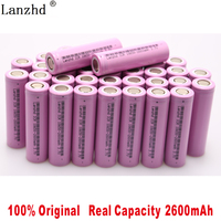 40 240Pcs 18650 Battery 2600mAh li ion Rechargeable Batteries for samsung 18650 3.7V Lithium Battery for Flashlight notebook