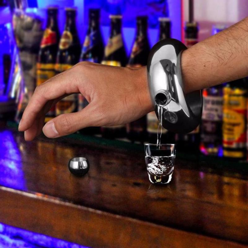 Portable Bangle Bracelet Hip Flask Okrugli Elegantan Vinski Bracelet - Kuhinja, blagovaonica i bar - Foto 6