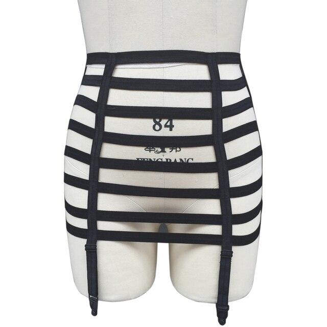 2016 New Women's black Stockings Garter Gothic Harajuku bondage hips Garter belt fashion leg ring harness High Quality Underwear