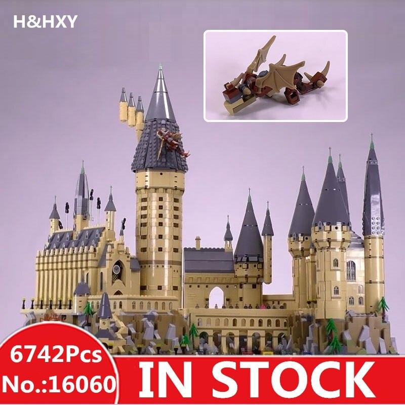 LEPIN 16060 6742 pcs Harry Potter Magique Poudlard Château Compatible 71043 Blocs de Construction Briques Enfants Éducatifs De Noël Jouets