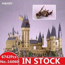 LEPIN 16060 6742 pz Harry Magia Potter Hogwarts Castello Compatibile 71043 Building Blocks Mattoni Bambini Educativi Giocattoli Di Natale