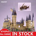 LEPIN 16060 6742Pcs Harry Magic Potter Hogwarts Castle Compatible 71043 Building Blocks Bricks Kids Educational Christmas Toys