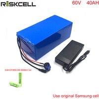 60 В 40ah EBike литий ионный аккумулятор 60 В 3000 Вт литий ионный аккумулятор для солнечной системы/e велосипед/ e велосипед, e мотоцикл для Samsung ячейк