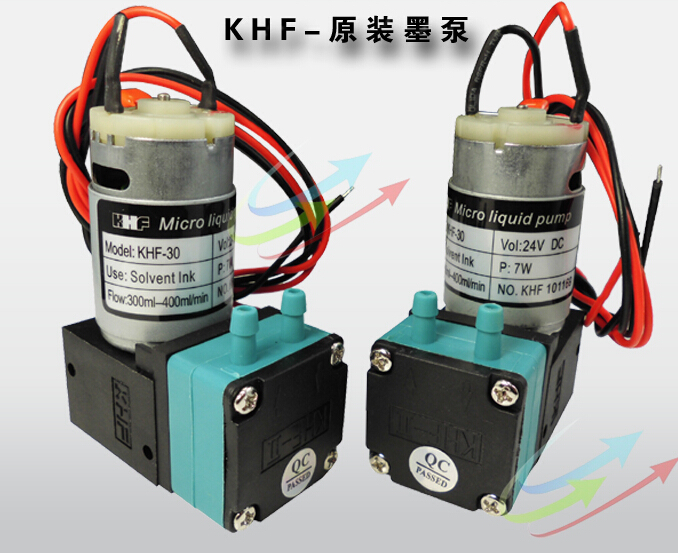 KHF MICRO water Liquid AIR INK PUMP FOR SOLVENT PRINTERS 24V DC 300ml-400ml/min 7W mutoh vj 1604w rj 900c water based pump capping assembly solvent printers