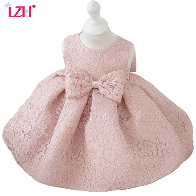 LZH 2017 Summer Baby   Girls   Princess   Dress   1 Year Birthday   Dress   Infant Party   Dress     Flower     Girls     Dress   Children Clothes Vestidos