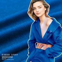 Royal blue luxury Suri alpaca fabric Suri high content alpaca fabric ultra high end coat wool fabric wholesale wool cloth