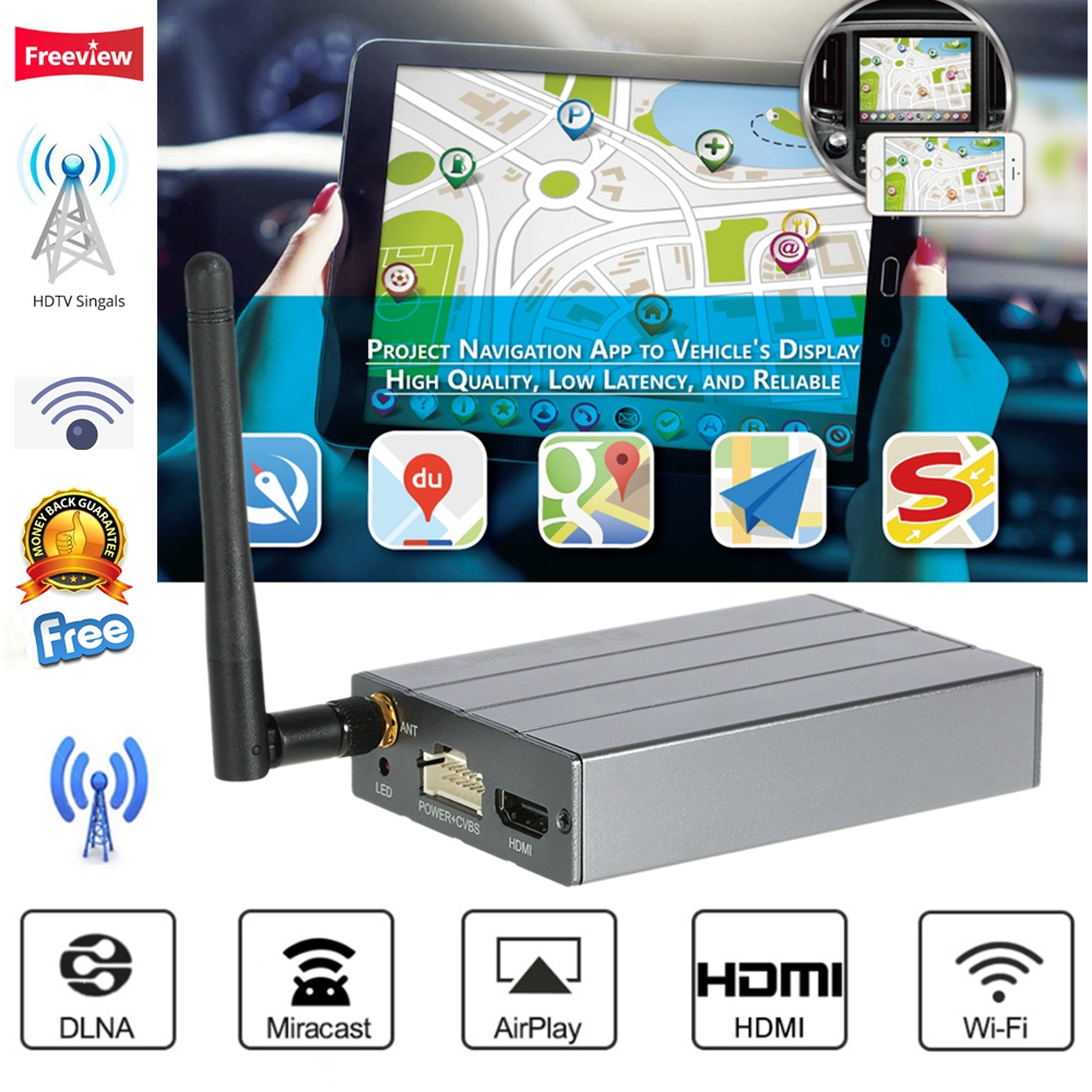 MiraScreen Car WiFi Display Dongle Mirror Box Airplay Miracast DLNA GPS Navigation Car C1 For iOS Android Phone Tablet Pad TV