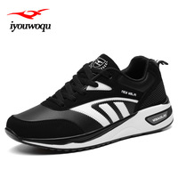 IYOUWOQU Couples Sports Shoes Outdoor Running Shoes For Men And Women Sneaker Athletic Training Shoes Black