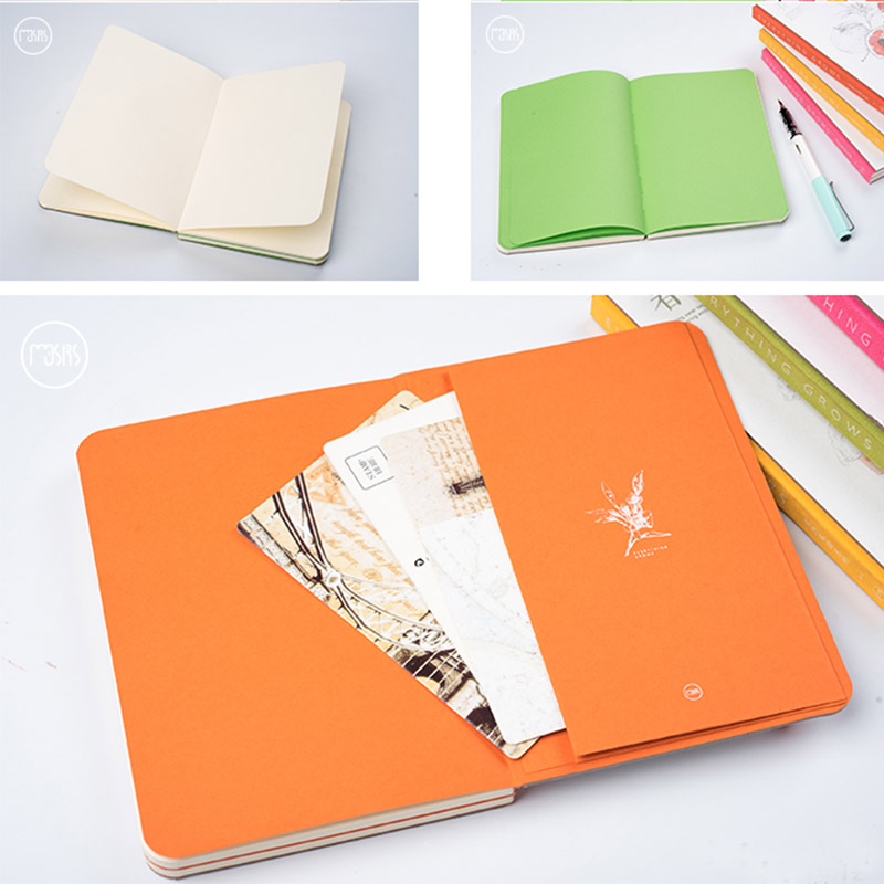 Cadernos desenho bonito straps escola notebook Pages : 160 Pages Blank White Paper+32 Pages Color Paper