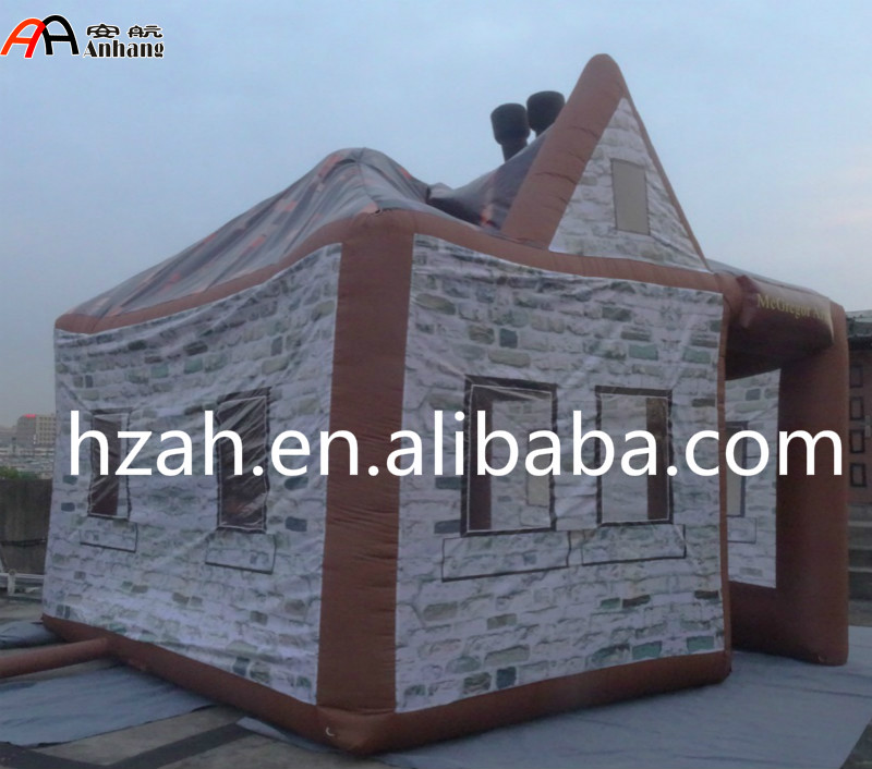 Giant Inflatable Printed Pub House For Outdoor Advertising