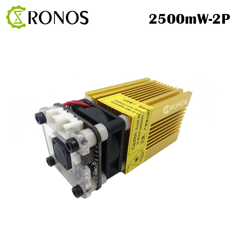 NEW 445nm 2500mw Gold Module Laser DI Messa A Fuoco Blue Laser Incisione Laser Testa 2