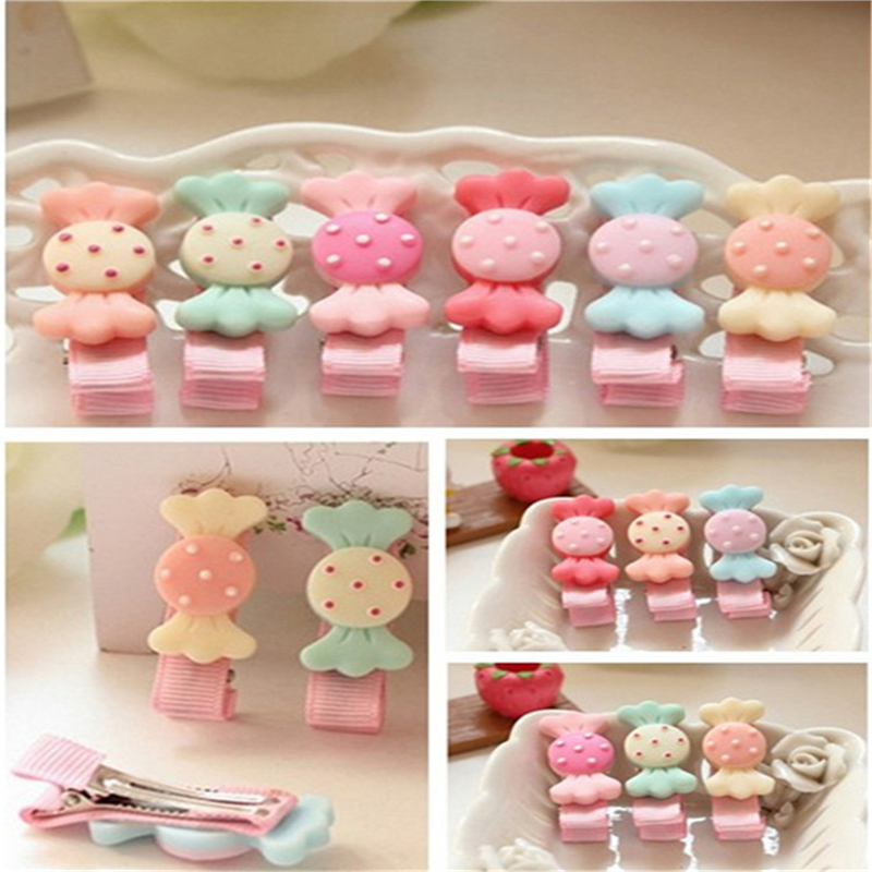 Good Gift Cute Kids Girls Candy Hairpins Bow Hair Accessories Girl hair Clip Styling Tools Hairpin Hair Watermelon Red Barrettes new women girls dot hair accessories candy color double ball hairpins cute baby kids hair clip ribbon dot barrettes